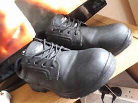 Trojan steel toe work boots size 11