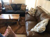 2 Sofas plus 1 armchair