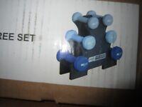 Pro Fitness Dumbbell Tree - 9kg 2 x 1kg dumbbells, 2 x 1. 5kg dumbbells 2 x 2kg