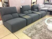 Volante Cinema style power recliner sofa set with drinks storage units.