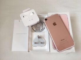 iPhone 7 32GB Rose Gold brand new in box Factory Unlocked Sim-free with warranty proof of receipt