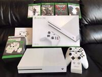 Xbox One S 1TB with 4 games, 2 controllers & Twin Docking Station & rechargeable batteries