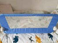 Mothercare blue bed guard