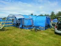 Gelert corvus 6+2 family tent