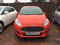 2014 FORD FIESTA 1.6 ZETEC POWERSHIFT,3 MNTHS WARRANTY,PETROL,AUTO,RED,12 MNTHS MOT,ALLOYS,HPI CLEAR