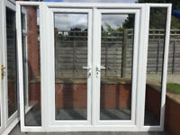 UPVC DOUBLE GLAZED FRENCH DOOR WITH DETACHBLE SIDE PANELS 240cm WIDE 210cm HIGH Can deliver