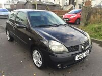56 plate Renault Clio 1.2 campus sport only £595