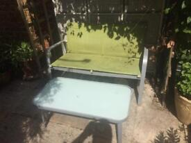 Two Seat Garden Chair and Garden Coffee Table