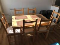 IKEA dining table with 6 chairs
