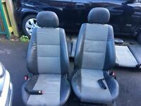 Half leather seats