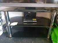 Black glass TV unit free