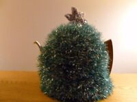 Christmas Tree tea cosy, hand knitted