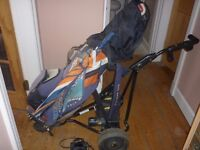 Powercaddy Electric Trolley and Calloway Carry Bag.