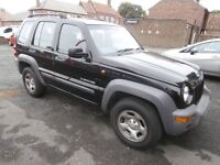 2004 JEEP CHEROKEE 2.7 Turbo Diesel , 5 Door , Long M.O.T with Good Engine , Ideal Winter Wheels
