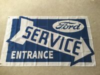 Ford service flag tractors Sierra Capri escort cortina workshop flag banner