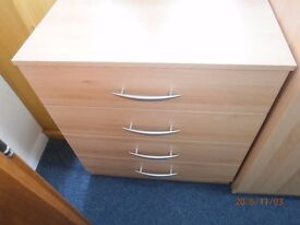 NEW Chest of 4 Drawers in Beech Colour.