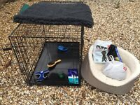 Amazing puppy dog bundle and crate - everything you need for your new dog NEW