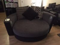 Dfs large cuddle sofa with sound system and storage