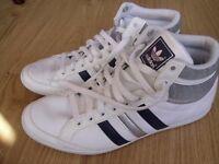 Adidas hi tops uk 8,5 white leather
