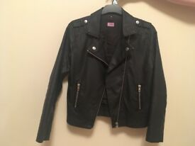 Girls leather look jacket for sale