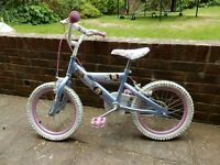 """Girls bike age 4 to 7 16"""" wheels very good condition, cute puppy designs."""