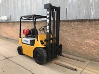 Hyster 2 ton gas forklift, solid tyres, ready for work