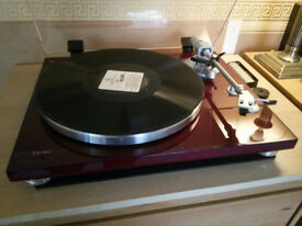 TEAC TN-300 Cherry Turntable with USB + AT120e Cartridge Upgrade