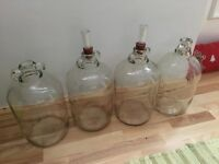 Homebrewing diy beer wine demijohn jars containers