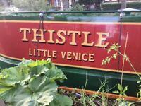 Live on a narrow boat- Little Venice