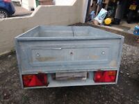 4' x 3' galvanised road trailer