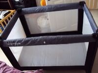 Kiddicare travel cot with bassinet