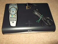 sky hd plus satellite box with remote control and wireless adaptor