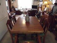 Cotswold Colection solid wood extending dining table and 6 chairs