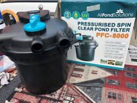 PRESSURISED SPIN CLEAR POND FILTER