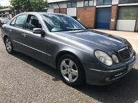 2004 MERCEDES BENZ E320 CDI AVANTGARDE DIESEL AUTOMATIC. HEATED LEATHER. SAT NAV DVD PLAYER, MOT'D.