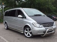 MERCEDES BENZ VIANO EXTRA LONG 2.1 DIESEL AUTOMATIC 8 SEATER MOT EXCELLENT DRIVE NO TRANSPORTER VITO