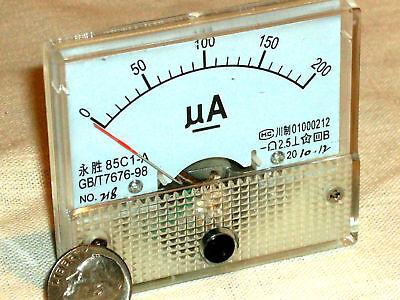 Brand New 200 Ua 200ua Dc Microamp Ua Analog Current Panel Amp A Meter Usa