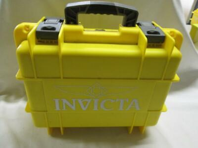 NEW Invicta Watch Eight 8 Slot Yellow Water Proof Dive Box Collecter Case