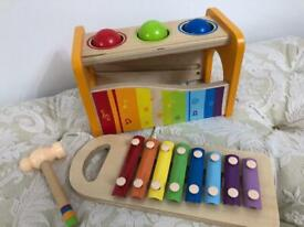 Toy Jacques / Xylophone wooden musical bench