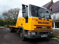 iveco recovery truck 7.5 tonne with spec lift