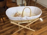 Moses Basket - perfect condition (£20)