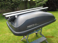 Hapro roofbox and rails