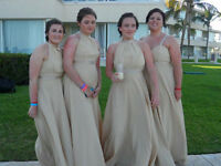 4 x Champagne colour Bridesmaid Gowns