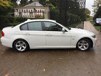 WHITE BMW 3 SERIES 320d EFFICIENT DYNAMICS 2011 £20 TAX PER YEAR 50MPG DIESEL