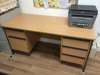 Large Office Desk with 2 sets of draws