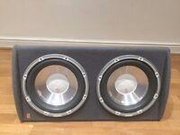 2400watt fli trap active dual subwoofer speaker