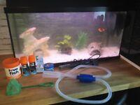 Jewel 80L fish tank full set up