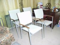 Five lovely Westminster Patio Chairs ( Lightweight and Robust )