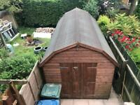 HAND BUILT - HIGH QUALITY - 8x16 LARGE GARDEN SHED