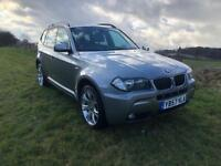 57 REG BMW X3 2.0 20d M SPORT 5DR-NAPPA HEATED LEATHER-2 KEYS-12 MONTHS MOT-HISTORY-PARK SENSORS